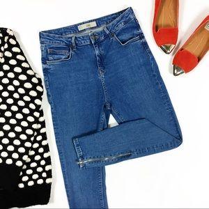 Topshop Jamie High Waist Ankle Zipper Skinny Jeans